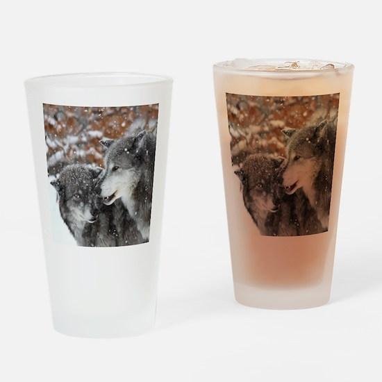 x10 shn wolf Drinking Glass