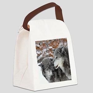 x10 shn wolf Canvas Lunch Bag
