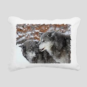xW shn wolf Rectangular Canvas Pillow