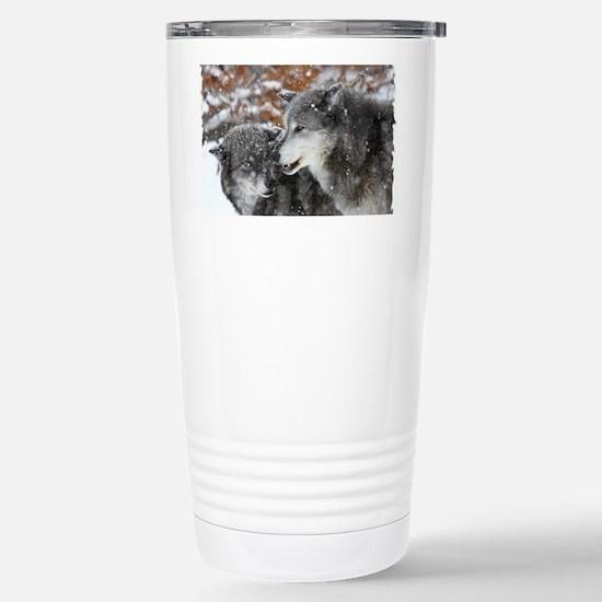 xW shn wolf Stainless Steel Travel Mug