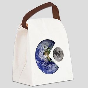 pac-man earth Canvas Lunch Bag