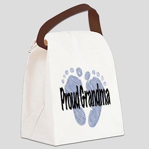 Proud Grandma (Boy) Canvas Lunch Bag