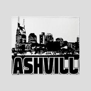 Nashville Skyline Throw Blanket
