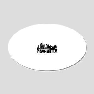 Nashville Skyline 20x12 Oval Wall Decal