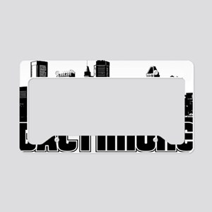Baltimore Skyline License Plate Holder