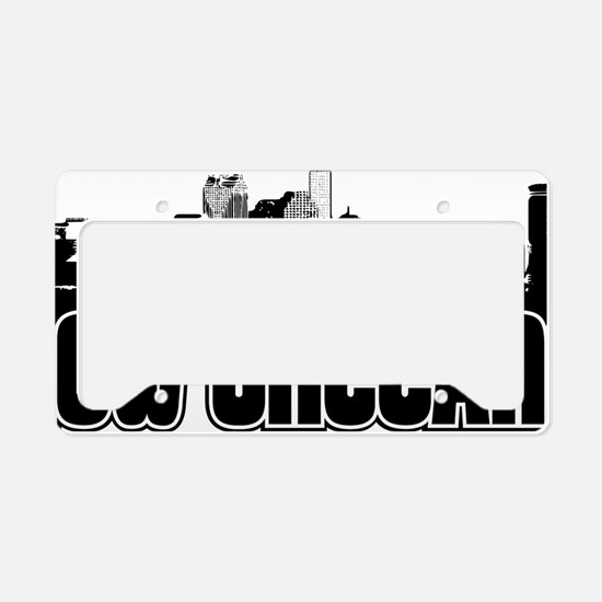 New Orleans Skyline License Plate Holder