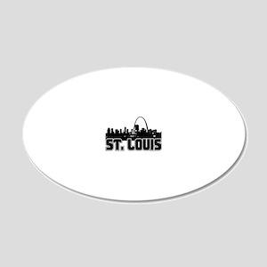 St. Louis Skyline 20x12 Oval Wall Decal
