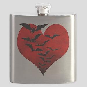 Heart_Bats_Dark_T Flask