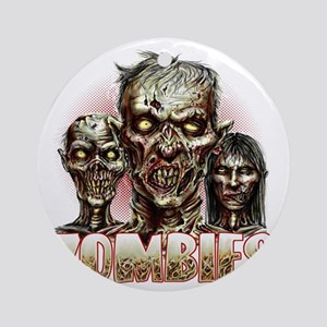 zombies Round Ornament