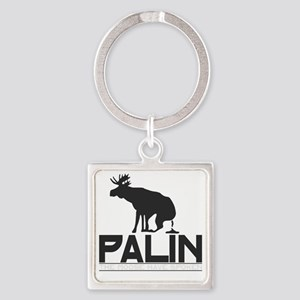 Palin Moose Dropped-b Square Keychain