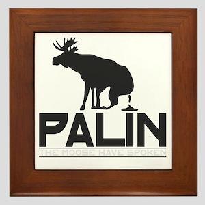 Palin Moose Dropped-b Framed Tile