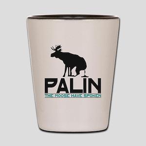 Palin Moose Dropped-WA Shot Glass
