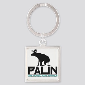 Palin Moose Dropped-WA Square Keychain