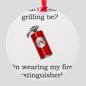 grilling Round Ornament