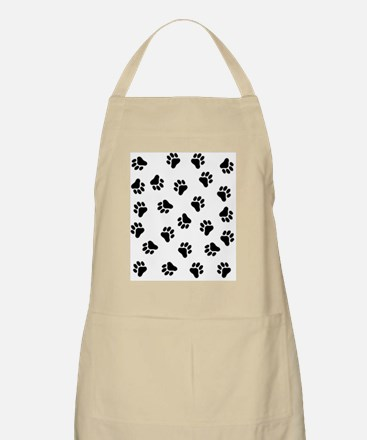 BLACK PAW PRINTS Apron