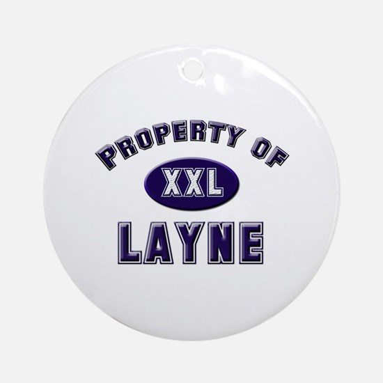 Property of layne Ornament (Round)
