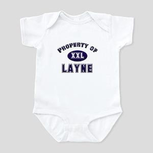 Property of layne Infant Bodysuit