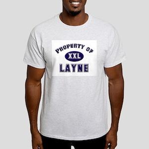Property of layne Ash Grey T-Shirt