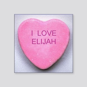 "HEART ELIJAH Square Sticker 3"" x 3"""