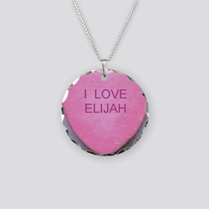 HEART ELIJAH Necklace Circle Charm