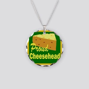 proud cheesehead Necklace Circle Charm