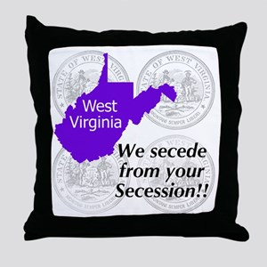 West Virginia Throw Pillow