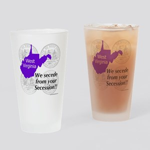 West Virginia Drinking Glass