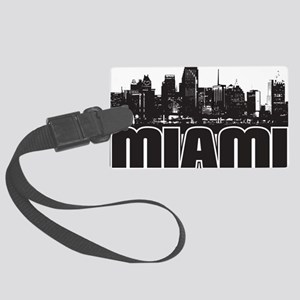 Miami Skyline Large Luggage Tag