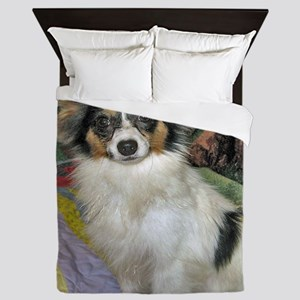 papillon_tri_color Queen Duvet