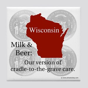 Wisconsin Tile Coaster