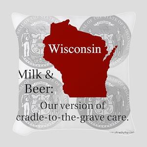 Wisconsin Woven Throw Pillow