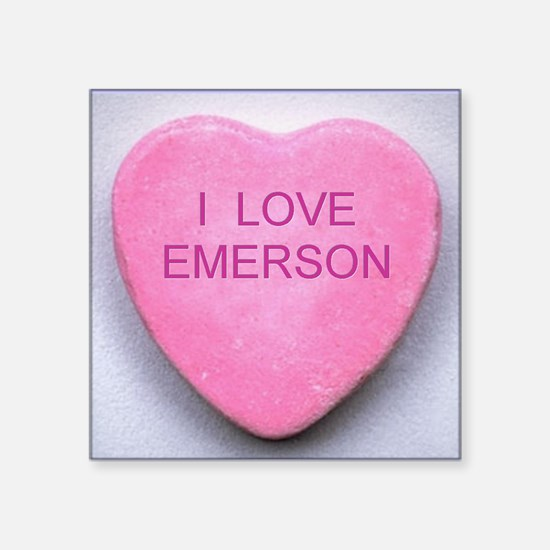 "HEART EMERSON Square Sticker 3"" x 3"""