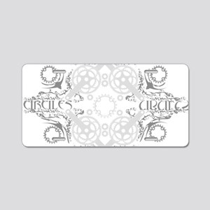 circles_light Aluminum License Plate