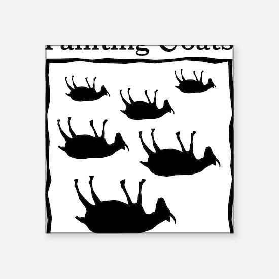 "fainting goat Square Sticker 3"" x 3"""