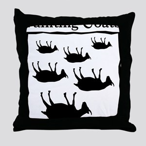 fainting goat Throw Pillow