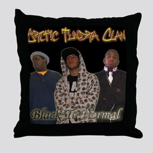 Black To Normal Throw Pillow