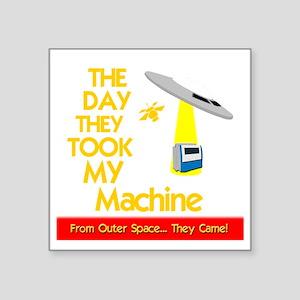 """funny machinist design with Square Sticker 3"""" x 3"""""""