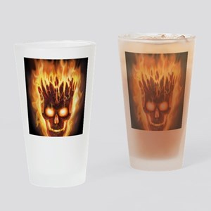 skull bonies head explodes det port Drinking Glass