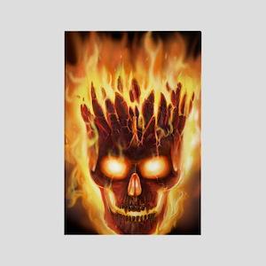 skull bonies head explodes det po Rectangle Magnet