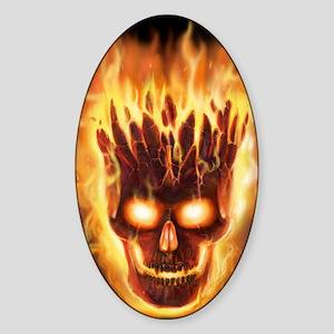 skull bonies head explodes det port Sticker (Oval)