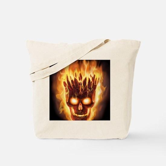 skull bonies head explodes det port Tote Bag