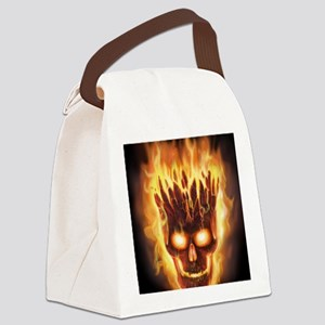 skull bonies head explodes det po Canvas Lunch Bag