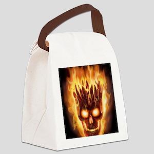 skull bonies head explodes det po Canvas Lunch Bag