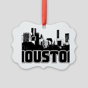Houston Skyline Picture Ornament