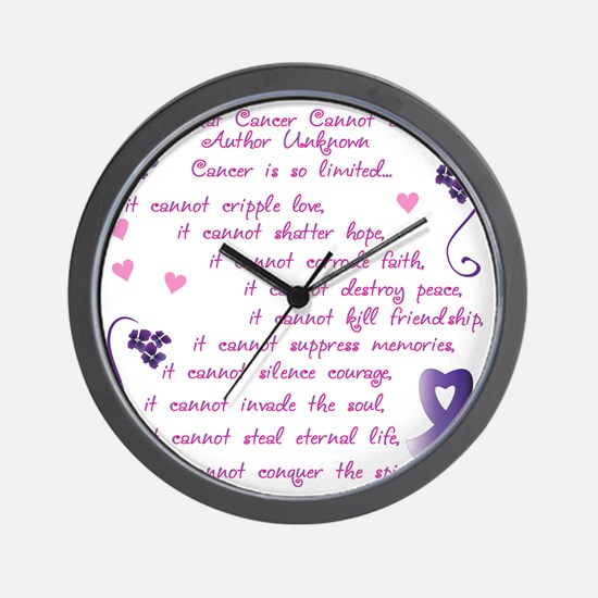 cancer cannot Wall Clock