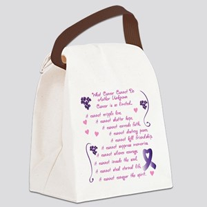 cancer cannot Canvas Lunch Bag