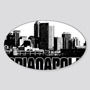 Indianapolis Skyline Sticker (Oval)