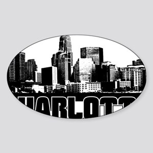 Charlotte Skyline Sticker (Oval)