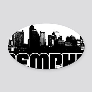 Memphis Skyline Oval Car Magnet