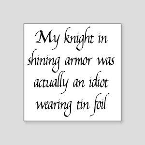 "knight1 Square Sticker 3"" x 3"""